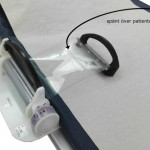 Kompressionsband över patienten